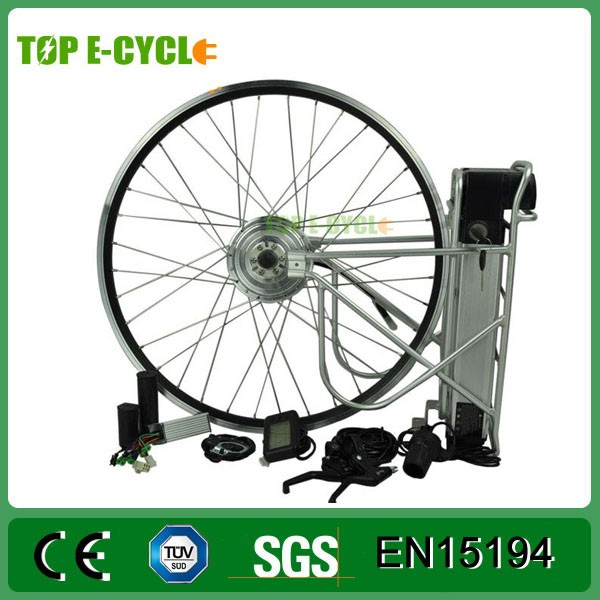 350W brushless hub motor black / silver electric bike kit
