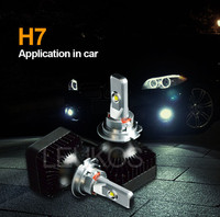car accessories led headlight bulb h7 adapter from h1 to h7