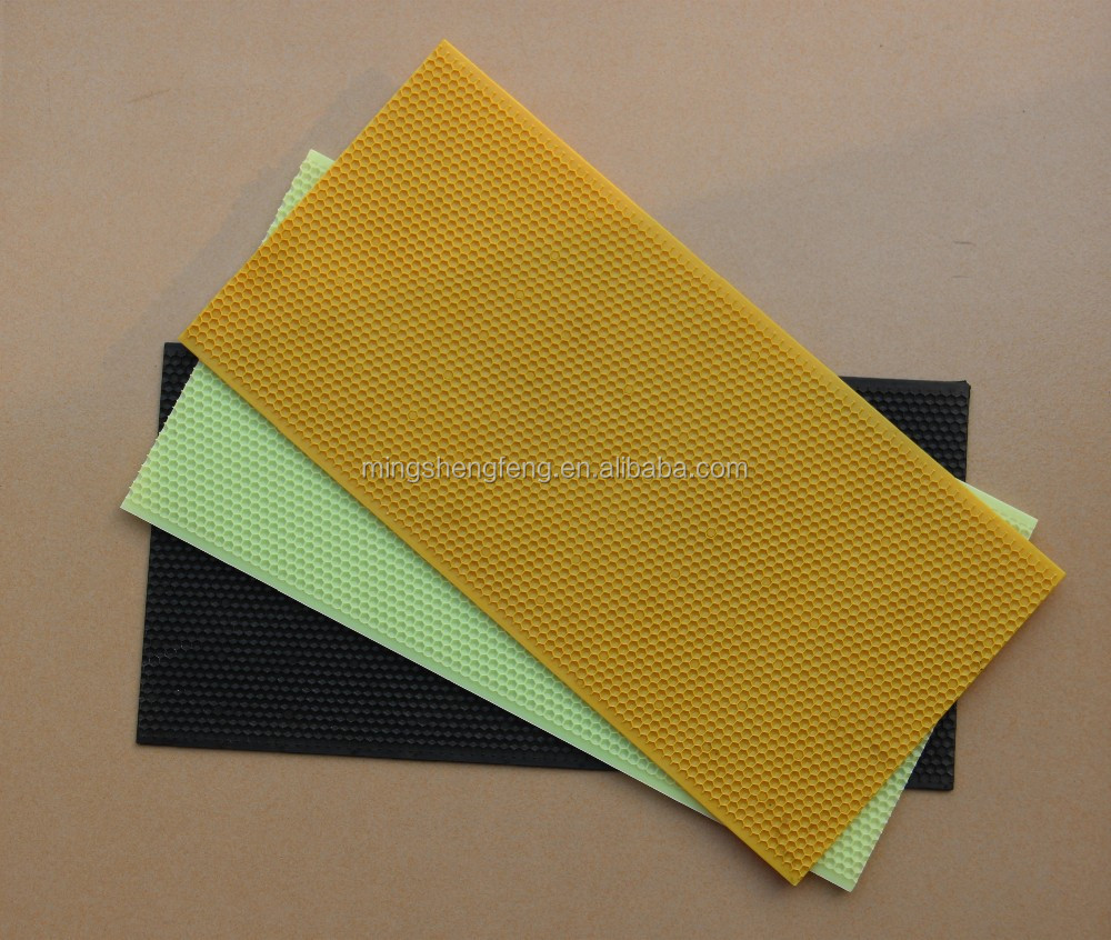 Chinese manufacturers yellow plastic bee foundation sheet for beekeeper