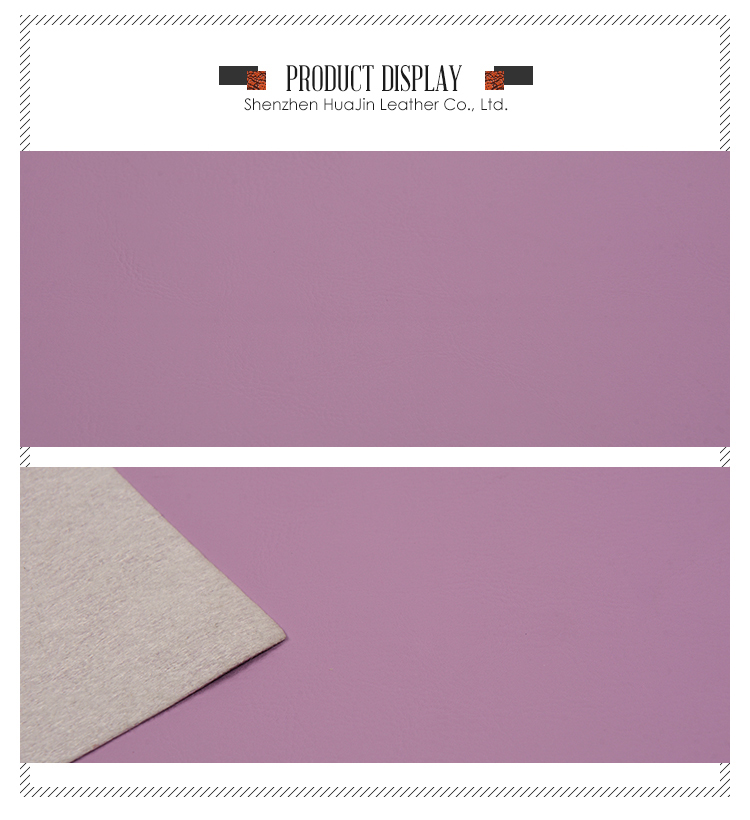 Hot Sales Purple Color Pvc Leather/ Synthetic Stationery Leather