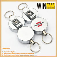 Fancy silver magnetic metal retractable badge holder promotional gifts with Your Logo or Name