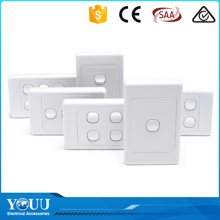 YOUU 2016 Best Selling Products SAA Standard 2 Gang 1 Way GPO Electric Wall Switch