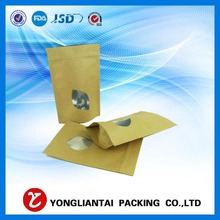 High quality kraft paper zipper stand up pouches