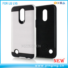 2 in 1 PC TPU Hybrid Shockproof Brushed Armor Case Cover For LG LV5/K10 2017/K20 Plus