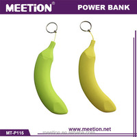 5v 1a Promotional Gift banana Power Bank 2600mah/Mini Keychain Manual for Battery Charger Power Bank