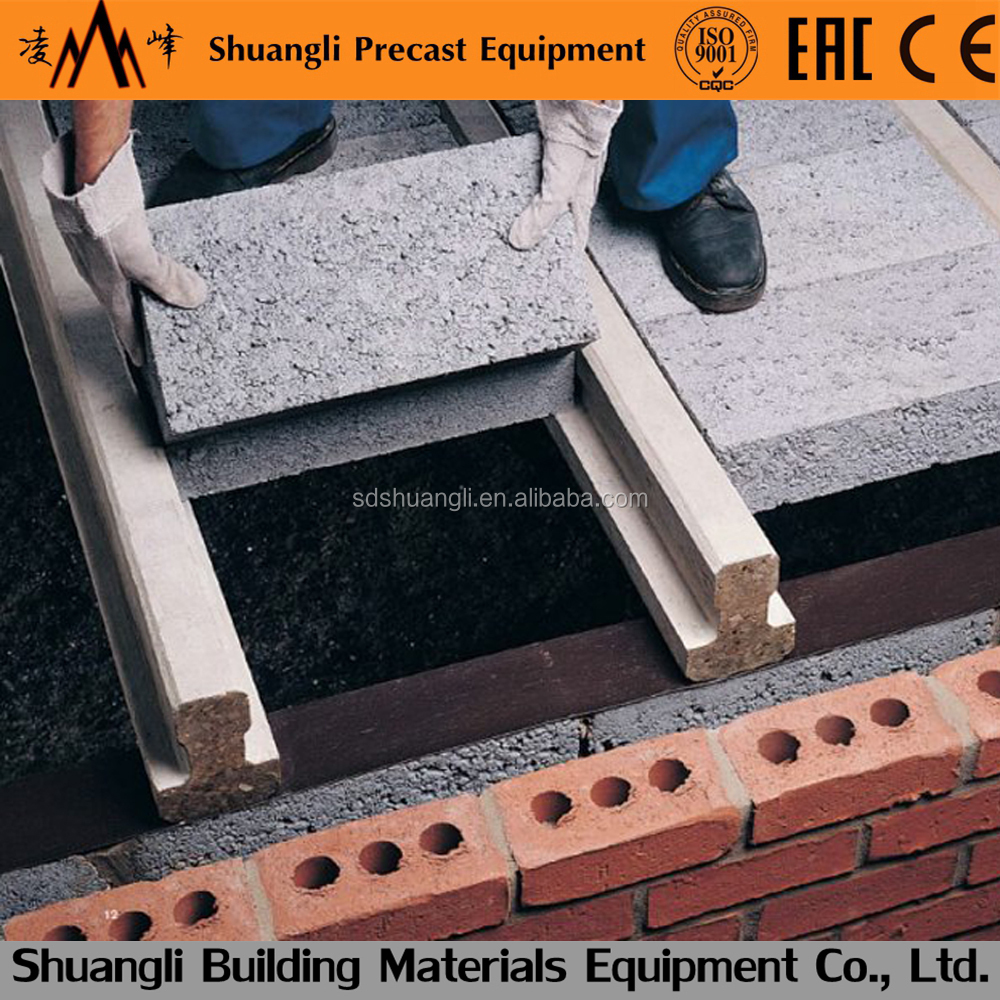 Precast Concrete T Beam Making Machine For House Building