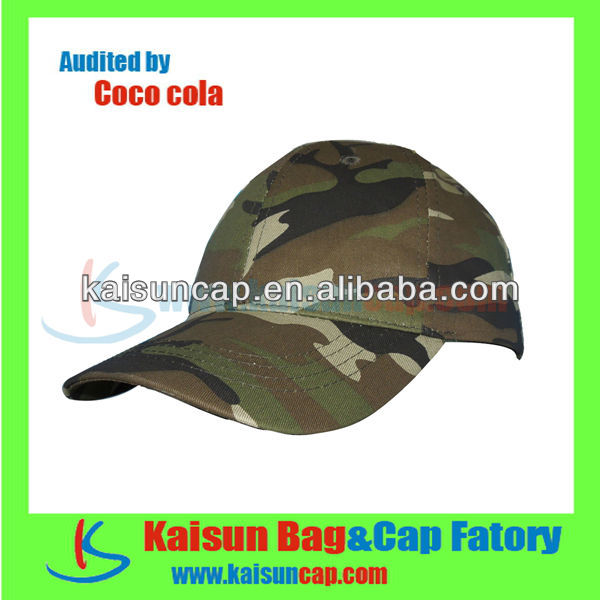 2013 new style custom military baseball cap hard hat with velcro closure