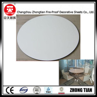 water resistant round table top compact laminate board fireproof board hpl phenolic compact laminate board