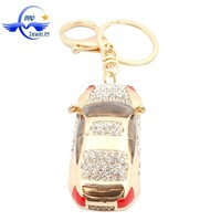 Fashion Rhinestone Car Keychains Handbag charms Car Shape Key Chain Bulk Wholesale For Boy
