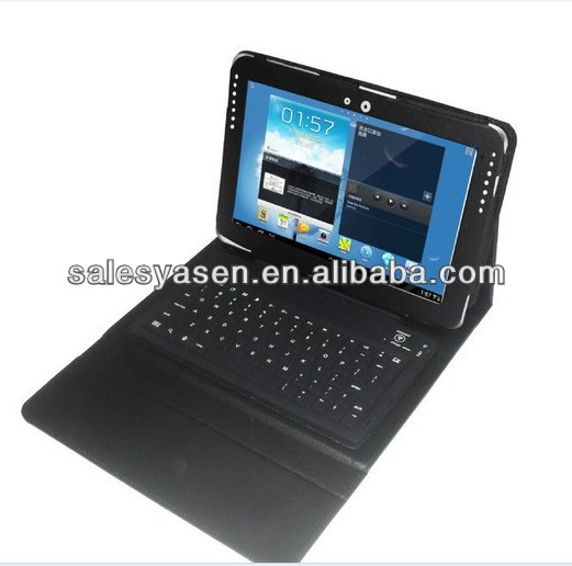 Bluetooth keyboard case for samsung galaxy note 10.1 n8000