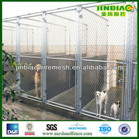 Hot sale Chain link fence double dog kennel
