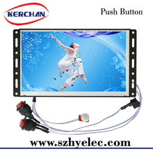 7 inch open frame push button flat screen digital lcd advertising signboard