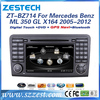 ZESTECH HD touch screen Car gps navigation for Mercedes Benz ML 350 GL X164 200 car multimedia audio video entertainment system