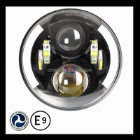 DOT approval 7 inch round automotive led headlight high and low beam for Truck,Jeep, Atv 7 inch headlight