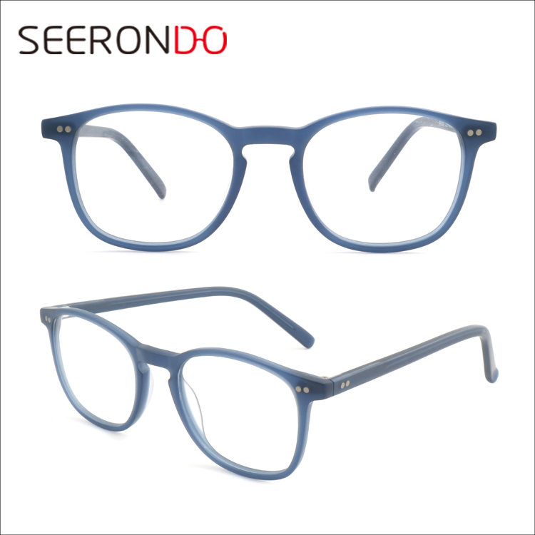 SEERONDO Online Shop China High Quality Vintage Spectacle Eye Glasses Round Optical Frame