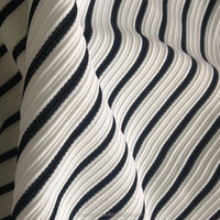 black and white stripe jacquard knitting fabric