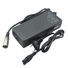 36V 2A Li-ion battery charger indicating charge process electric bike stooter wheelchair charger