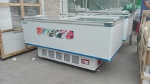 Glass sliding door fast freezing sharp refrigerator commercial refrigerator deep island freezer