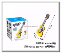 Popular promotion item DIY block for kids guitar toy