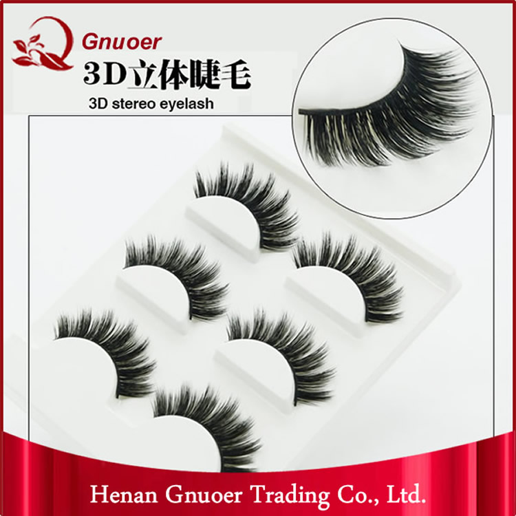 Top Quality Customed Packaging 3D Mink Lash 3 Pairs Natural Thick Eye Lashes