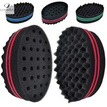 hair style curl the hair sponge foam brush wave hair brush for men