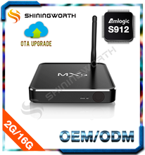 Android 6.0 Set Top Box S912 Octo core tv box 2g/16g