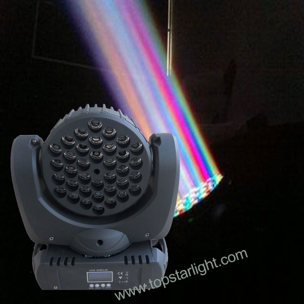 Hot sale Bean and Wash 36pcs x <strong>3W</strong> mini moving head beam disco light