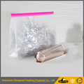 pink zipper color clear transparent pvc toiletry bag / plastic makeup bag with teeth zipper / clear cosmetic bag with ziplock