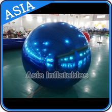 Night Club Decoration / Inflatable Silver Balloon For Outdoor