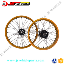 DRZ110/125 19/16 Inch 125CC Motocross Off Road Motocycle CNC MX Alloy spoked wheels with Black hubs