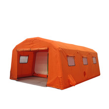 orange pvc army military inflatable tent for emergency shelter
