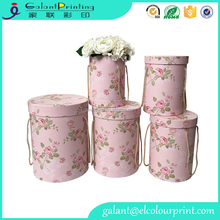 Galant 3-Piece cardboard flower Hat Box Set with Lids, Floral Pattern