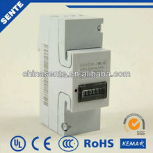 DDS7666 type single phase watt-hour 3 phase 4 wire energy meter connection