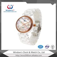 fashion ladies watches ceramic watch band 3 atm water resistant