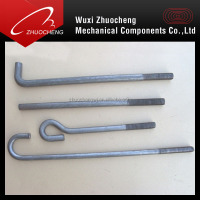 carbon steel heavy duty zinc plated m20 J roofing bolt