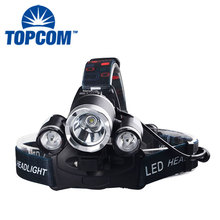 Waterproof Bike Front Headlight 6000 Lumen T6 + R2 3 LED Most Powerful Camping Headlamp