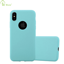 Matte Ultra Slim Candy Silicone Skin TPU Bumper Cover Case For iPhone X With Logo Hole