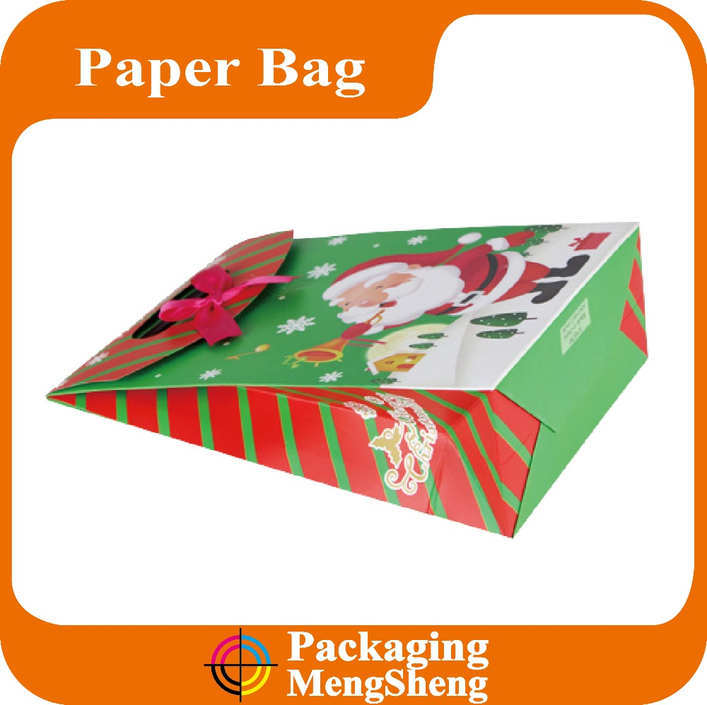Christmas self-sealing paper gift packaging bag