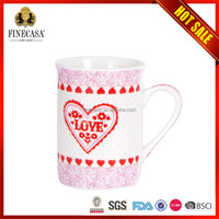 Customized printing logo ceramic chocolate coffee mug with handmade