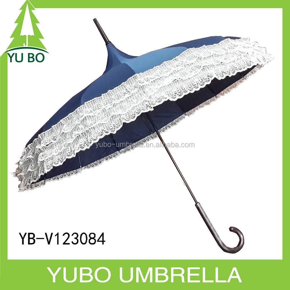 Double lace lady's pagoda parasol umbrella