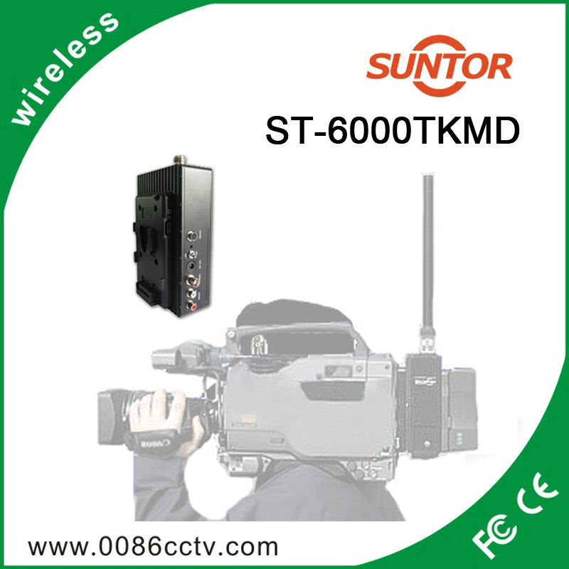 COFDM 5-10km wireless audio video camera transmitter receiver system for broadcast live