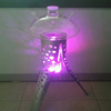 glass hookah with metal stand,big size shisha