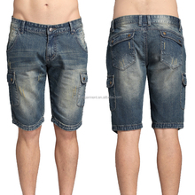 summer latest new design distressed men jeans shorts male cargo half pants wholesale price