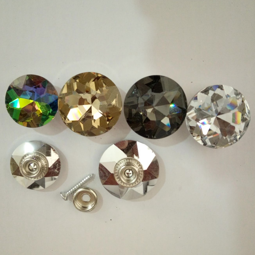Newest sale special design crystal press stud button for furniture