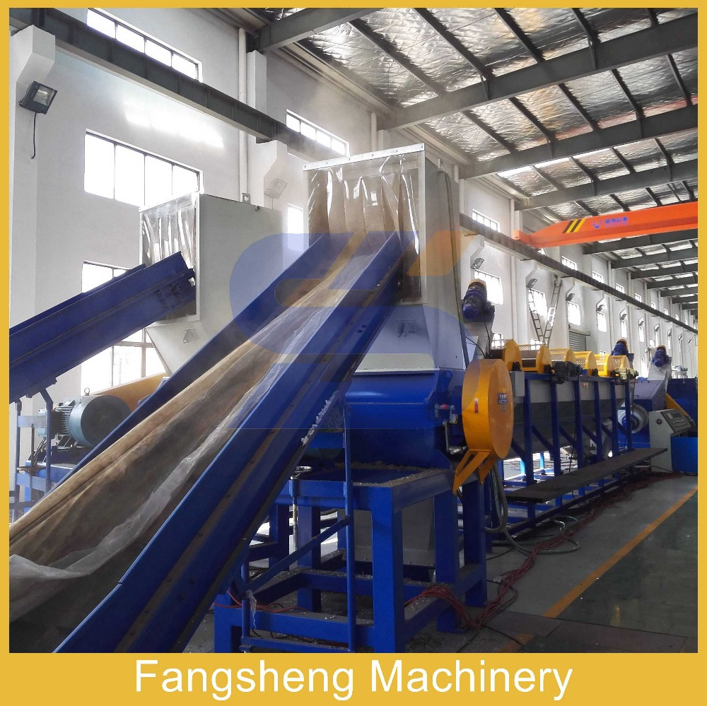 Fangsheng waste pp pe film woven bags plastic recycling cleaning line