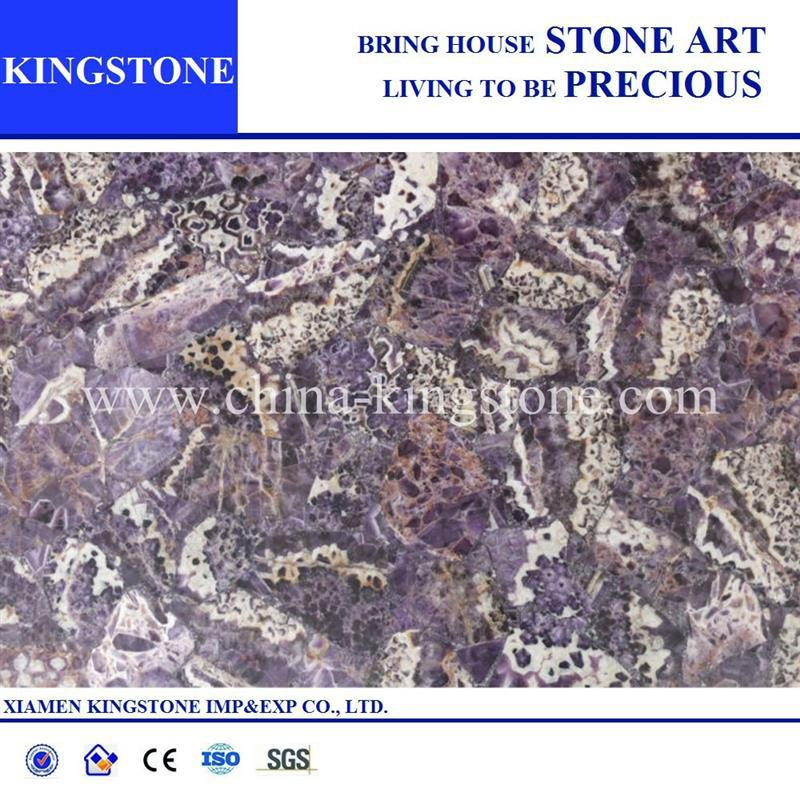 Cheap amethyst stone tiles slabs backlit price (factory price)
