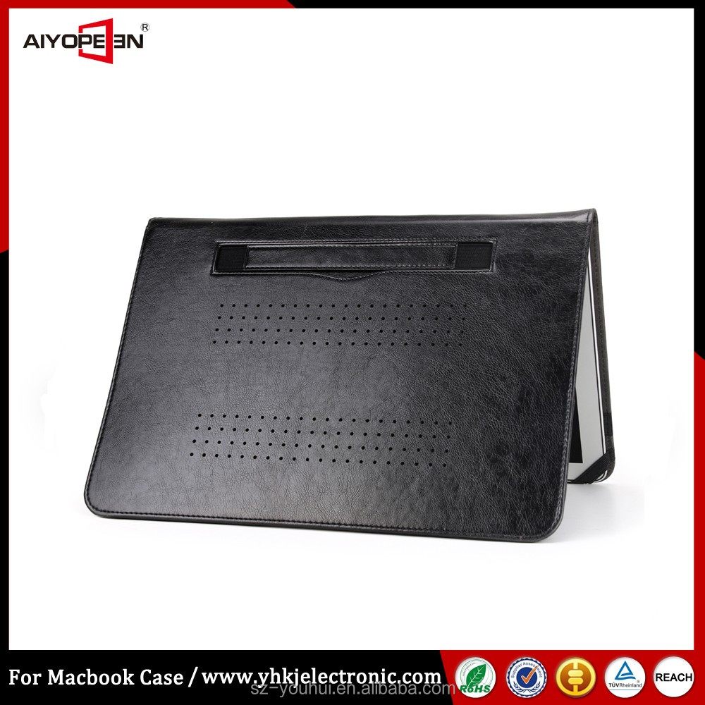 New arrival for 13 macbook air leather sleeve business