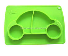 Anti Slip Silicone Kids Placemat Plate Nice Car Shape Mat For Eating Fun