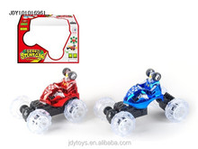 Hot selling remote control stunt skip car toy with flashing light and music,Latest tumbling car,RC tip lorry toy