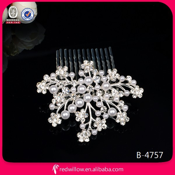 Hot Sale Wedding Crystal Metal Hair Combs For Girls